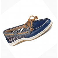 Sperry Women s Firefish Snake Mesh Boat Shoe Navy Blue