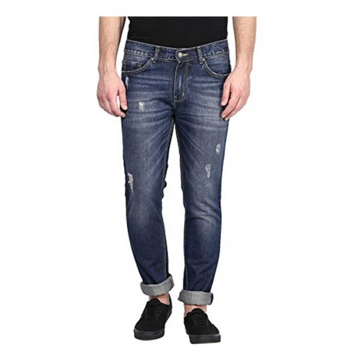 American Crew Men's Straight Fit Jeans (Dark Blue)
