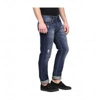 American Crew Men's Straight Fit Jeans (Dark Blue)