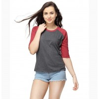 Women Round Neck Quarter Sleeve T-Shirts
