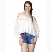 Cold Shoulder White Top