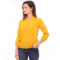 Vvoguish 3/4 Sleeve Yellow Band