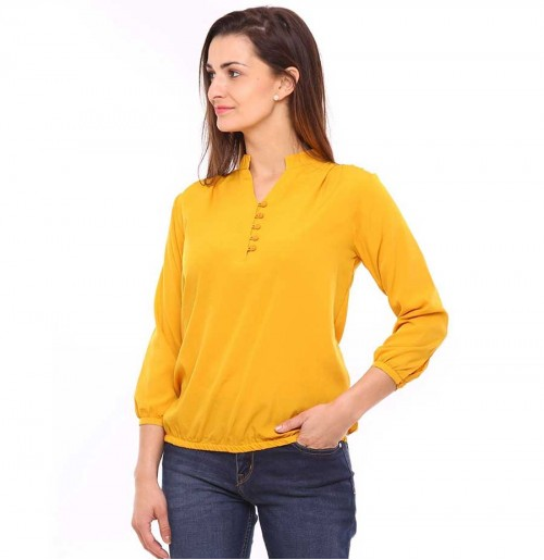 Vvoguish 3/4 Sleeve Yellow Band